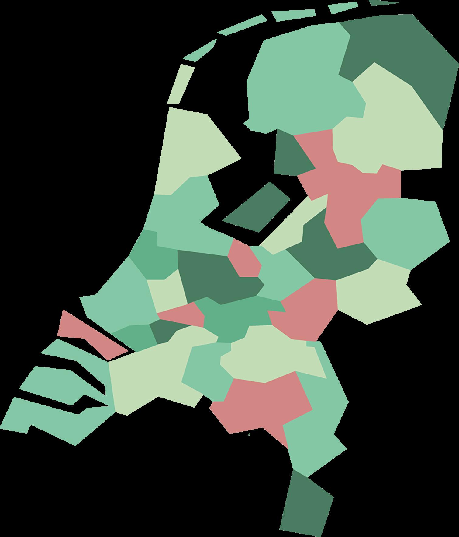 Regio's op de kaart